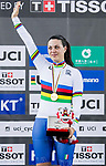 Rachele Barbieri of Italy celebrates winning in the Women's Scratch 10 km final as part of the 2017 UCI Track Cycling World Championships on 12 April 2017, in Hong Kong Velodrome, Hong Kong, China. Photo by Chris Wong / Power Sport Images