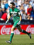 CD Leganes' Jon Ander Serantes celebrates goal during La Liga match. October 15,2016. (ALTERPHOTOS/Acero)