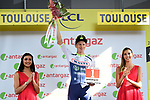 Aime De Gendt (BEL) Wanty-Gobert wins the day's combativity prize at the end of Stage 11 of the 2019 Tour de France running 167km from Albi to Toulouse, France. 17th July 2019.<br /> Picture: ASO/Alex Broadway   Cyclefile<br /> All photos usage must carry mandatory copyright credit (© Cyclefile   ASO/Alex Broadway)