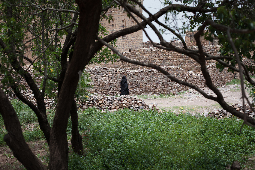 Midday prayer call in the village of Kawkaban, the Haraz Mountains, province of Al-Mahweet.
