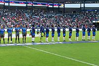 KANSAS CITY, KS - JULY 11: Haiti starting eleven during a game between Haiti and USMNT at Children's Mercy Park on July 11, 2021 in Kansas City, Kansas.
