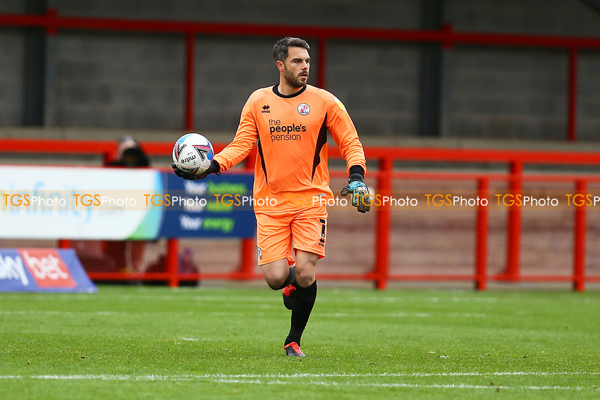 Glenn Morris of Crawley Town during Crawley Town vs Morecambe, Sky Bet EFL League 2 Football at Broadfield Stadium on 17th October 2020