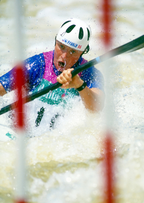 Women's Whitewater Slalom Kayak. Ocoee Tennessee United States Ocoee River Olympic Whitewater Park.