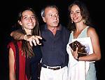 ROSSA ROSSELLINI, ACHILLE BONITO OLIVA E CHANTAL PERSONE'<br /> PALAZZO DELLE ESPOSIZIONI ROMA 1993