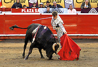 MANIZALES - COLOMBIA - 08-01-2017: The Spanish bullfighter El Juli in action during the bullfighting season 61 Feria of Manizales. Photo: VizzorImage / Santiago Osorio / Cont.