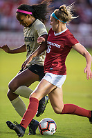 NWA Democrat-Gazette/BEN GOFF @NWABENGOFF<br /> Anna Podojil (right), Arkansas forward, and Nia Dorsey, Vanderbilt defender, fight for the ball in the first half Thursday, Sept. 26, 2019, at Razorback Field in Fayetteville.