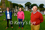 Members of the Aghavallen Graveyard committee in Rusheen, Ballylongford are calling on local vandals to stop desecrating the graveyard. Front right: Timmy Flavn. Back l to : John Wrenn and Cllr: Michael Foley