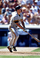 Jeff King of the Pittsburgh Pirates at Dodger Stadium in Los Angeles,California during the 1996 season. (Larry Goren/Four Seam Images)