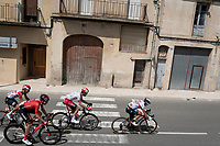 the breakaway group with Sergio Henao (COL/UAE-Emirates) leading <br /> <br /> Stage 8: Valls to Igualada (167km)<br /> La Vuelta 2019<br /> <br /> ©kramon
