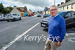 Cllr: Bobby O'Connell standing at the junction between Main Street and College road in Castleisland, where traffic calming measures are proposed