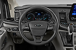 Car pictures of steering wheel view of a 2021 Ford Transit XLT 4 Door Passenger Van Steering Wheel