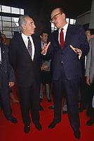 - Milano, Bettino Craxi, segretario del PSI (Partito Socialista Italiano) con Shimon Peres, leader del partito Laburista Israeliano al 45° congresso del PSI  (Maggio 1989)<br /> <br /> - Milan, Bettino Craxi, secretary of the PSI (Italian Socialist Party) with Shimon Peres, leader of the Israeli Labor party at the 45th congress of the PSI (May 1989)