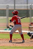 Dave Sappelt - Cincinnati Reds 2009 Instructional League. .Photo by:  Bill Mitchell/Four Seam Images..