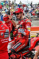3rd October 2021; Austin, Texas, USA; Francesco Bagnaia (63) - (ITA) riding a Ducati for the Ducati Lenovo Team on the grid for the MotoGP Red Bull Grand Prix of the Americas