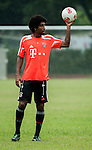 Dante of Bayern Munich during a training session ahead the friendly match against VfL Wolfsburg as part of the Audi Football Summit 2012 on July 26, 2012 at the Tianhe Sports Stadium in Guangzhou, China. Photo by Victor Fraile / The Power of Sport Images
