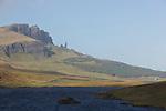 Old man  of Storr, colonne de basalte. Skye island.