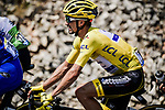 The peloton including Yellow Jersey Julian Alaphilippe (FRA) Deceuninck-Quick Step during Stage 16 of the 2019 Tour de France running 177km from Nimes to Nimes, France. 23rd July 2019.<br /> Picture: ASO/Pauline Ballet   Cyclefile<br /> All photos usage must carry mandatory copyright credit (© Cyclefile   ASO/Pauline Ballet)