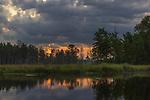 Sunrise on a wilderness wetland in northern Wisconsin.