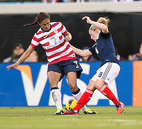 Shannon Boxx, Kim Little.  The USWNT defeated Scotland, 4-1, during a friendly at EverBank Field in Jacksonville, Florida.