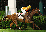 Wise Dan and jockey John Velazquez win the 23rd running of The Firecracker Handicap Grade 2 $150,000 at Churchill Downs on a yielding track carrying 128lbs. for trainer Charles Lopresti and owner Morton Fink.  June 29, 2013.