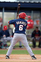 March 22, 2010:  JP Ramirez of the Washington Nationals organization during Spring Training at the Carl Barger Training Complex in Melbourne, FL.  Photo By Mike Janes/Four Seam Images