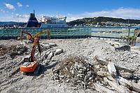 BNZ building demolition site. CentrePort in Wellington, New Zealand on Tuesday, 29 September 2020. Photo: Dave Lintott / lintottphoto.co.nz