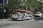 TROLLEY in SAN FRANCISCO. COUPLE KISS