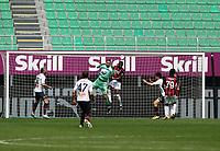 Milano  18-04-2021<br /> Stadio Giuseppe Meazza<br /> Serie A  Tim 2020/21<br /> Milan Genoa<br /> Nella foto:   Donnarumma perde la palla                                   <br /> Antonio Saia Kines Milano