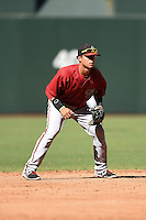 Arizona Diamondbacks shortstop Isan Diaz (6) during an Instructional League game against the Oakland Athletics on October 10, 2014 at Chase Field in Phoenix, Arizona.  (Mike Janes/Four Seam Images)