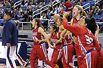 Liberty celebrates a 59-53 victory over Manogue during the NIAA Division I state basketball tournament in Reno, Nev. on Thursday, Feb. 25, 2016. Cathleen Allison/Las Vegas Review-Journal