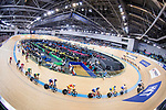 Riders compete on the Men's Omnium Tempo Race 10km during the 2017 UCI Track Cycling World Championships on 15 April 2017, in Hong Kong Velodrome, Hong Kong, China. Photo by Chris Wong / Power Sport Images