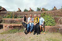 Pictured L-R: Rebecca Sampson-Jorge, Valentine Kuhl, Aurora Jorge-Kuhl, Gwen Heeney and Marco Kuhl Saturday 13 August 2016<br />