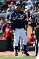 March 5, 2010:  Manager Jim Leyland of the Detroit Tigers during a Spring Training game at Joker Marchant Stadium in Lakeland, FL.  Photo By Mike Janes/Four Seam Images