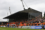 Barnet 1 Rochdale 0, 08/05/2010. Underhill Stadium, League 2. The final game of the season at Underhill. The Bees must beat Rochdale to guarantee their survival. Rochdale are celebrating promotion to League one. The main stand at Underhill. Photo by Simon Gill.