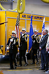 The Carson City Fire Department Honor Guard enters Chief Bob Schreihans' badge-pinning ceremony at Station 51 in Carson City, Nev., on Tuesday, Feb. 3, 2015. <br /> Photo by Cathleen Allison