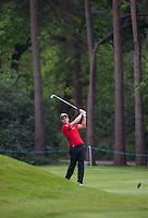 23.05.2015. Wentworth, England. BMW PGA Golf Championship. Round 3.  Luke Donald [ENG]  second shot on the 6th hole, during the third round of the 2015 BMW PGA Championship from The West Course Wentworth Golf Club