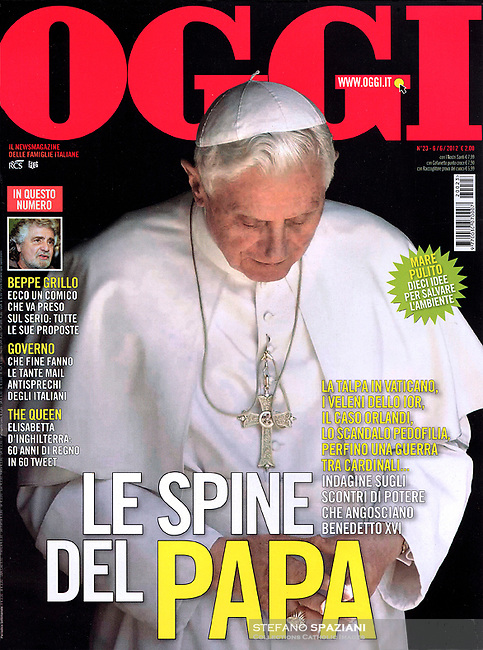 Pope Benedict XVI Der Spigel September 22, 2018. Oggi Italian Magazine, <br /> Photo By Stefano Spaziani.