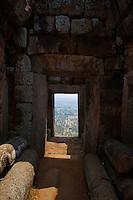 View from Phnom Chisor, Ankgorian temple south of Phnom Penh, Cambodia
