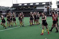 Dalefield players react as their final-hooter goal is disallowed and the match goes to shootout the women's premier one Wellington Hockey final between Hutt United and Dalefield at National Hockey Stadium in Wellington, New Zealand on Saturday, 26 September 2020. Photo: Dave Lintott / lintottphoto.co.nz