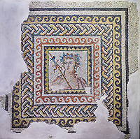 Roman mosaics - Bust of Dionysus Mosaic. House of Oceanos, Ancient Zeugama, 2nd - 3rd century AD . Zeugma Mosaic Museum, Gaziantep, Turkey.