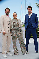 """CANNES, FRANCE - JULY 13:  Hilmir Snaer Gudnason, Noomi Rapace and Bjorn Hlynur Haraldsson at the """"Lamb"""" photocall during the 74th annual Cannes Film Festival on July 13, 2021 in Cannes, France. <br /> CAP/GOL<br /> ©GOL/Capital Pictures"""
