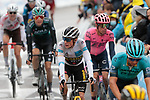 White Jersey wearer Jonas Vingegaard (DEN) Jumbo-Visma and Rigoberto Uran (COL) EF Education-Nippo cross the finish line in the main bunch at the end of Stage 16 of the 2021 Tour de France, running 169km from Pas de la Case to Saint-Gaudens, Andorra. 13th July 2021.  <br /> Picture: Colin Flockton   Cyclefile<br /> <br /> All photos usage must carry mandatory copyright credit (© Cyclefile   Colin Flockton)