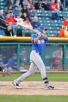 Matt den Dekker (17) of the Las Vegas 51s at bat against the Salt Lake Bees at Smith's Ballpark on May 8, 2014 in Salt Lake City, Utah.  (Stephen Smith/Four Seam Images)