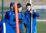 St Johnstone Training…17.01.20<br />Anthony Ralston pictured with Stevie May during training this morning at McDiarmid Park ahead of tomorrow's Scottish Cup tie against Greenock Morton..<br />Picture by Graeme Hart.<br />Copyright Perthshire Picture Agency<br />Tel: 01738 623350  Mobile: 07990 594431
