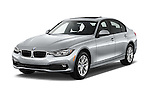 2018 BMW 3-Series 320i 4 Door Sedan Angular Front stock photos of front three quarter view