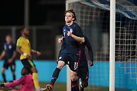 WIENER NEUSTADT, AUSTRIA - MARCH 25: Brenden Aaronson #11 of the United States celebrates scoring during a game between Jamaica and USMNT at Stadion Wiener Neustadt on March 25, 2021 in Wiener Neustadt, Austria.
