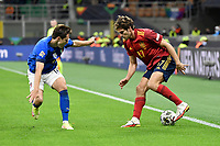 Federico Chiesa of Italy and Marcos Alonso of Spain during the Uefa Nations League semi-final football match between Italy and Spain at San Siro stadium in Milano (Italy), October 6th, 2021. Photo Andrea Staccioli / Insidefoto