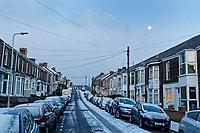 2018 02 28 Snow weather in Swansea, Wales, UK