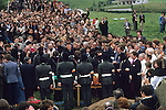 Martin Hurson funeral paramilitary IRA soldiers in disguise carry coffin July 1981  Galbally County Tyrone Northern Ireland. 1980s The Troubles, he died in Long Kesh on Hunger Strike