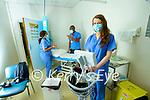 Working over Christmas: Wadzanai Beremauro, Jonathan Dube and Caroline Enright at the Radiography department at UHK Hospital, Tralee.